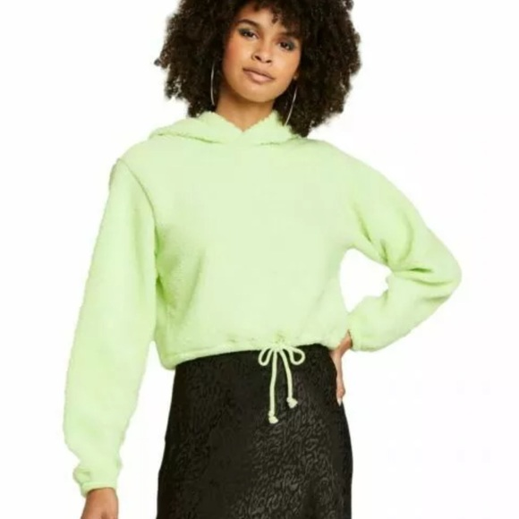 Wild Fable Lime Green Hoodie Crop Size XS
